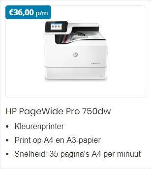 HP PageWide Pro 750dw A3 Printer